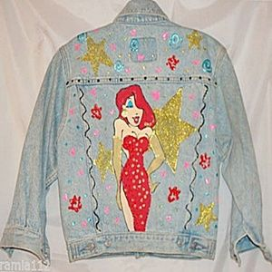 Gap Hand Painted Jessica Rabbit Denim Jacket